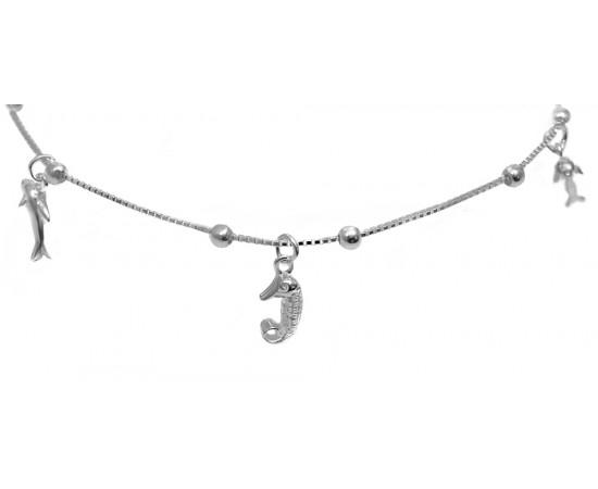Sallantılı Gümüş Halhal