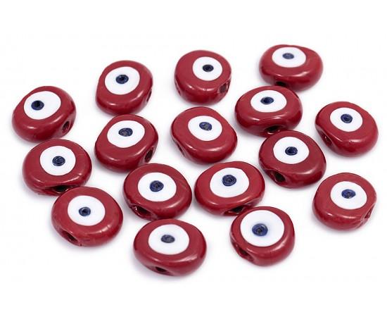 Kırmızı Cam Nazar Boncuğu