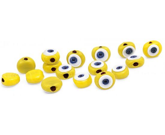 Sarı Cam Nazar Boncukları