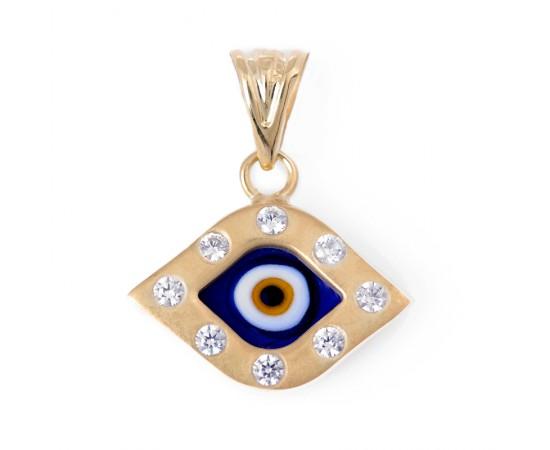 Göz Boncuklu 14 Ayar Altın kolye Ucu