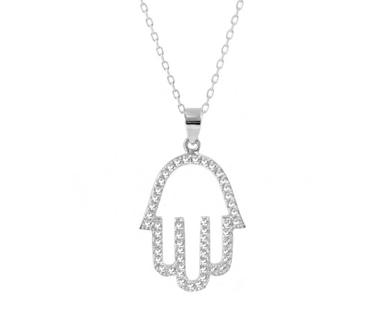 Fatma'nın Eli Zarif Gümüş Kolye