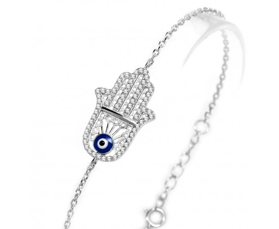 Fatma Ana Eli Gümüş Bileklik
