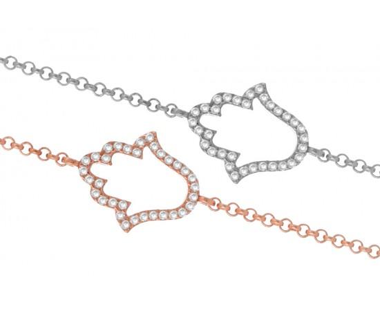 Gümüş Hamsa - El Bileklik