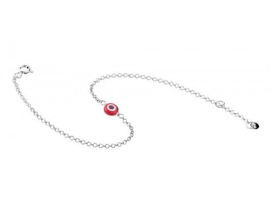 Murano Camlı Gümüş Mini Şans Bilekliği