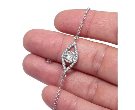 Pırlanta Modeli Gümüş Bileklik