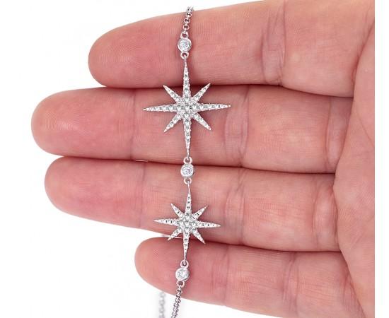 Yıldızlı Gümüş Bileklik
