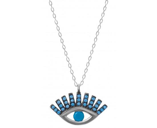 gümüş göz kolye