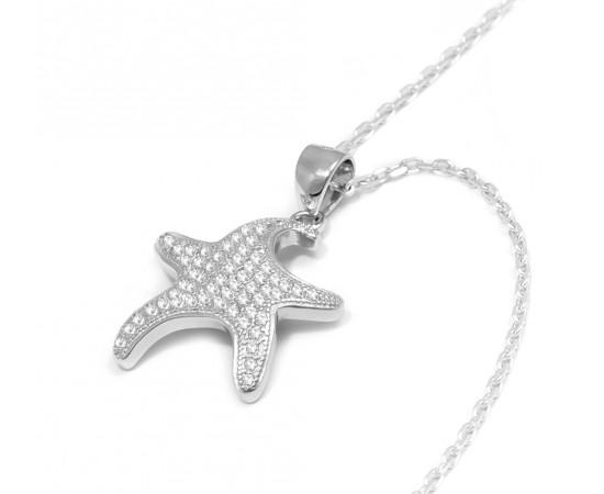 Deniz Yıldızı Gümüş Kolye