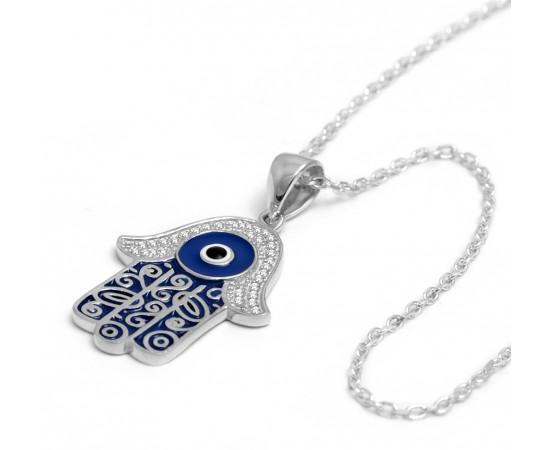 Fatma Ana Eli Gümüş Kolye
