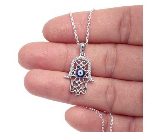 Fatma Ana Eli Kolye Gümüş