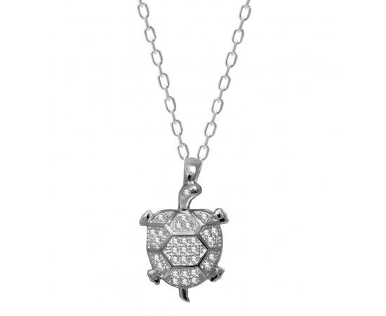 Gümüş Kaplumbağa Kolye
