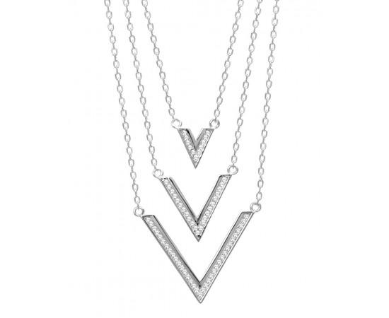 Gümüş V Kolye