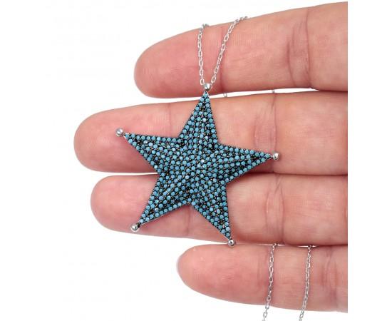 Gümüş Yıldız Kolye