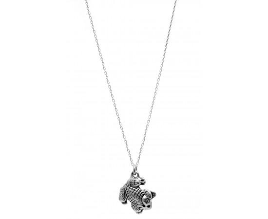 Kurbağa Kolye Gümüş