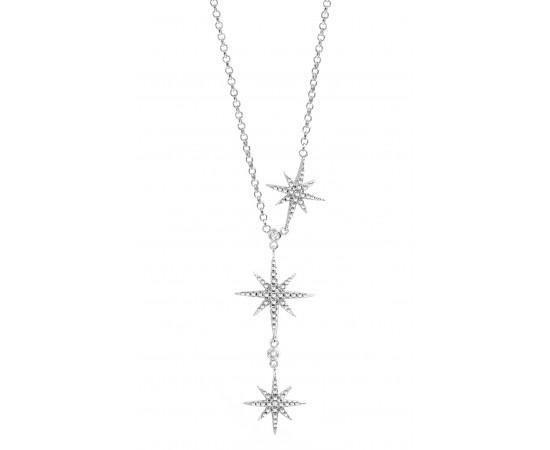 Kuzey Yıldızı Kolye 925 Ayar Gümüş
