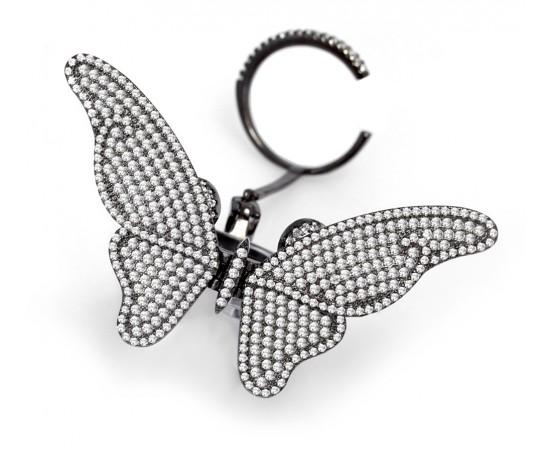 Gümüş Kelebek Yüzük Hareketli