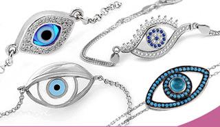 Nazar Boncuğu Gümüş Bileklik Modelleri